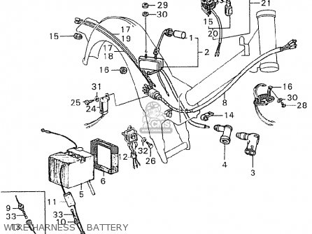 HARNESS,WIRE for C90 CUB GENERAL EXPORT / SINGLE SEAT