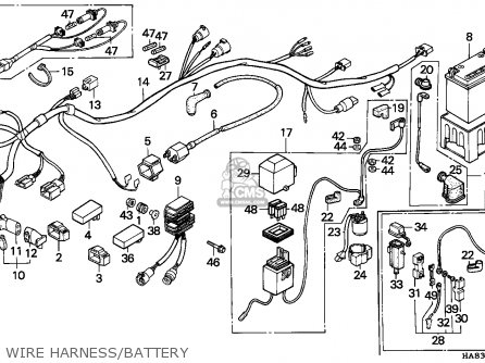 FUSE ASSY., SUB, fits TRX250 FOURTRAX 250 1986 (G) USA