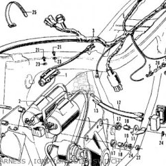 1972 Honda Cl350 Wiring Diagram Two Way Switch Uk Harness Wire For Scrambler K4 Usa Order At Cmsnl Photo The