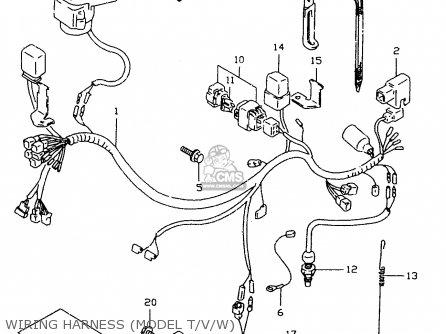 Harness,wiring Dr350se 1998 (x) 3661015DA0