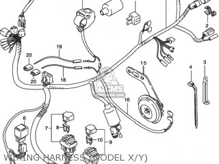 HARNESS,WIRING for LT-F250 QUAD RUNNER 2WD 2001 (K1) USA