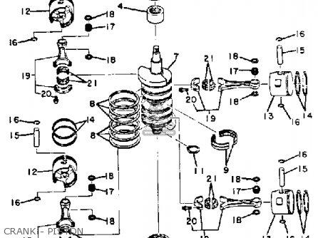 Yamaha 115 Etk 1985 parts list partsmanual partsfiche
