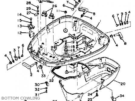 Yamaha 115 Etln/etxn 1984 parts list partsmanual partsfiche