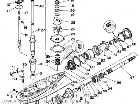 Yamaha 115/130/l130trt 1995 parts list partsmanual partsfiche