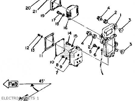 Yamaha 115etj 1986 parts list partsmanual partsfiche