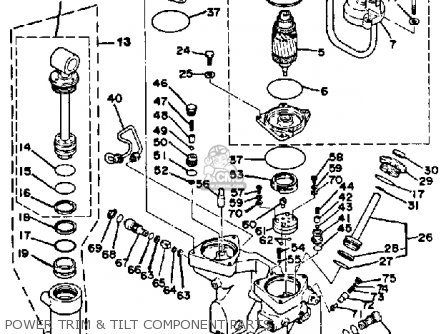 Yamaha 150 175 200 ETJ 1986 parts lists and schematics