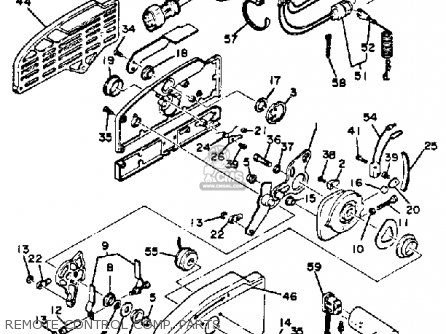 Yamaha 150 175 200 ETLN ETXN 1984 parts lists and schematics