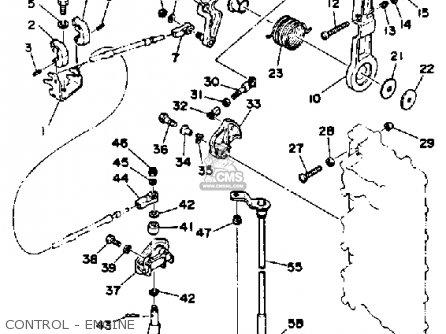 Yamaha 150/175/200 Etg 1988 parts list partsmanual partsfiche