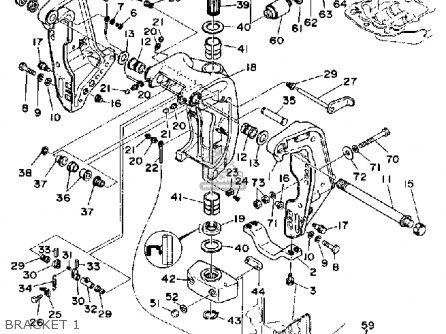 Yamaha 150/175/200etf 1989-1991 parts list partsmanual
