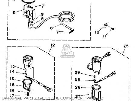 Yamaha 150/175/200ETF 1989-1991 parts lists and schematics