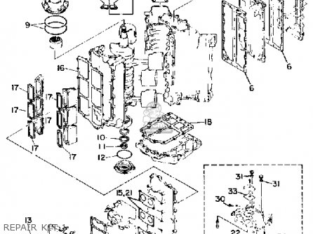 Yamaha 150/175/200etf 1989-1991 parts list partsmanual