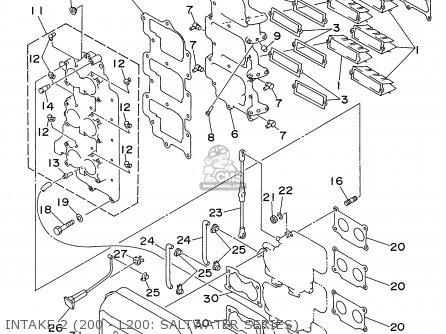 Yamaha 150/175/200/l150/l200trw 1998 parts list