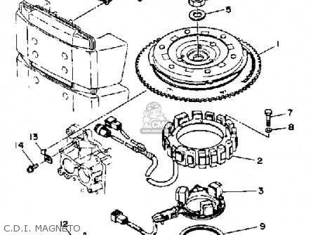 Yamaha 150/175/200TRQ 1992 parts lists and schematics