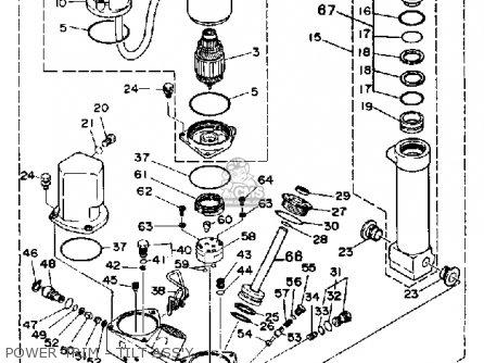 Yamaha 150f Pro V 1989 parts list partsmanual partsfiche