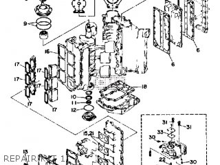 Yamaha 150f Pro V 1989 parts list partsmanual partsfiche
