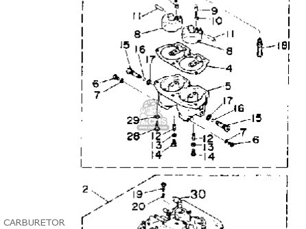 Yamaha 150G PRO V 1988 parts lists and schematics