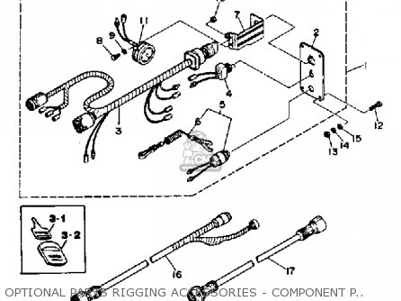 Yamaha 150h Pro V 1987 parts list partsmanual partsfiche