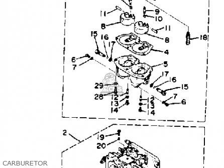Yamaha 150j Pro V 1986 parts list partsmanual partsfiche