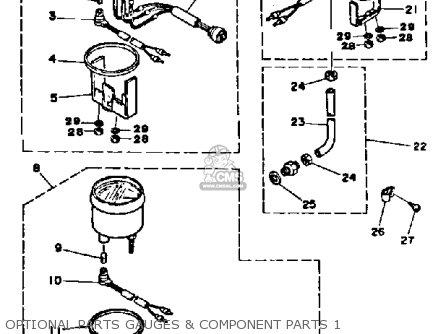 Yamaha 150J PRO V 1986 parts lists and schematics