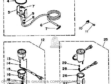 Yamaha 250trp 1991 parts list partsmanual partsfiche
