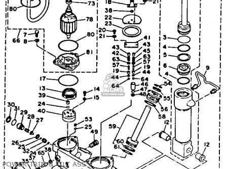 Yamaha 250txrr/turr 1993 parts list partsmanual partsfiche