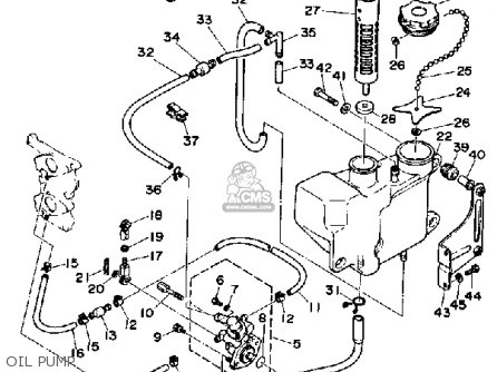 Yamaha 25f 1989 parts list partsmanual partsfiche