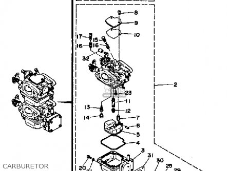 Yamaha 25hp 1991 parts list partsmanual partsfiche