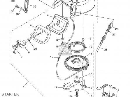 Yamaha 25mshb 2003 parts list partsmanual partsfiche