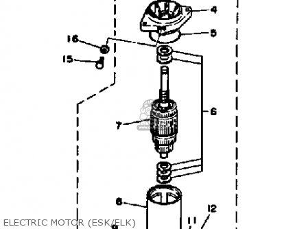 Yamaha 25SK 25LK 25ESK 25ELK 1985 parts lists and schematics