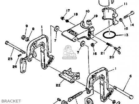 Yamaha 2h 1986/1987 parts list partsmanual partsfiche