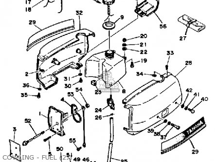Yamaha 2j 1986/1987 parts list partsmanual partsfiche