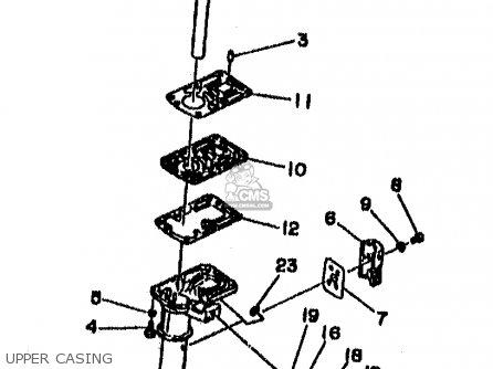 Yamaha 2mhx 1999 parts list partsmanual partsfiche