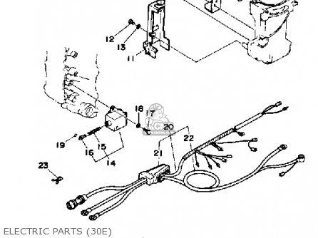 Yamaha 30g 1988 parts list partsmanual partsfiche