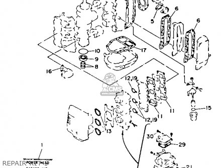 Yamaha 40(e/et) P 1990/1991 parts list partsmanual partsfiche