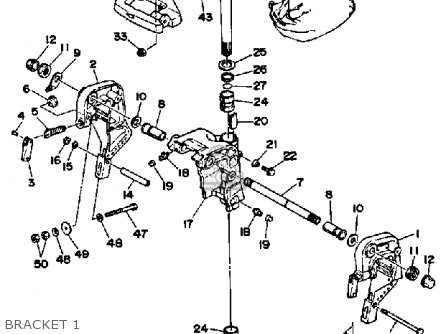 Yamaha 40f/ef/etf 1989 parts list partsmanual partsfiche
