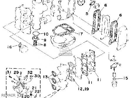 Yamaha 40g/eg/etg 1988 parts list partsmanual partsfiche