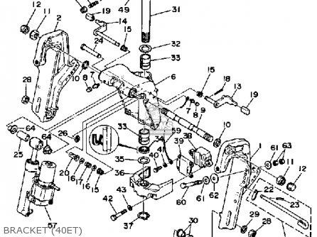 Yamaha 40h/eh/eth 1987 parts list partsmanual partsfiche