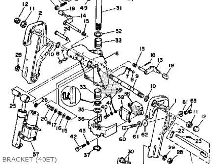 Yamaha 40j/ej/etj 1986 parts list partsmanual partsfiche