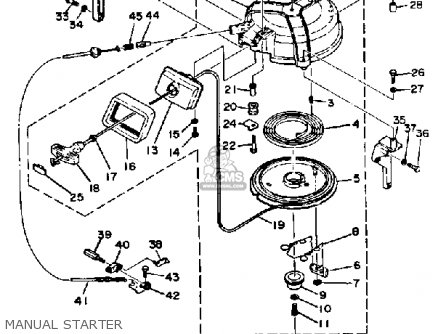 Yamaha 40J/EJ/ETJ 1986 parts lists and schematics
