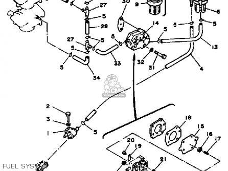 Yamaha 40k/ek/etk 1985 parts list partsmanual partsfiche