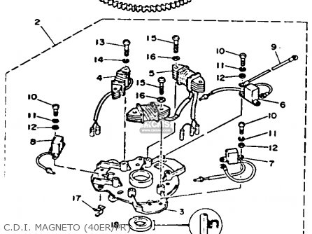Yamaha 40(mh/er/pr)r 1993 parts list partsmanual partsfiche