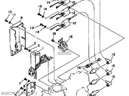 Yamaha 50eh 1987 parts list partsmanual partsfiche