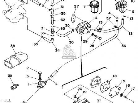 Yamaha 50ths 1994 parts list partsmanual partsfiche