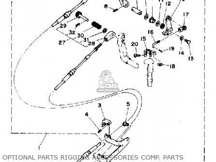 Yamaha 6d 1990 parts list partsmanual partsfiche