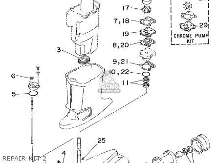 Yamaha 70ETF 1989 parts lists and schematics