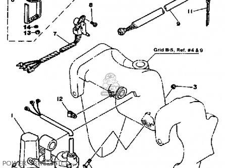 Yamaha 70eth 1987 parts list partsmanual partsfiche