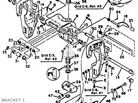 Yamaha 70etlk 1985 parts list partsmanual partsfiche