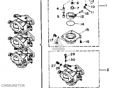 Yamaha 70TRP 1991 parts lists and schematics