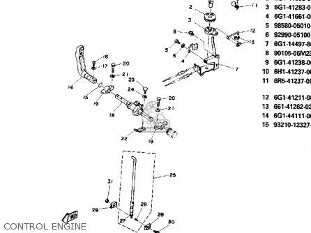 Yamaha 8p 1991 parts list partsmanual partsfiche