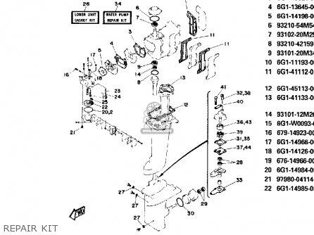 Yamaha 8P 1991 parts lists and schematics